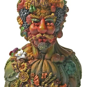 Man Portrait Made of Fruits and Vegetables Vertumnus God of Seasons by Arcimboldo 4.5H
