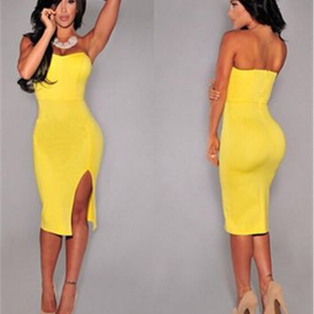 Summer Dress Style Women Sexy Bodycon Party Night Club Dress Vestidos De Festa Wrapped Chest Dresses Womens Solid Ropa Mujer