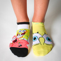 SpongeBob Mix and Match No Show Socks 10 Pk