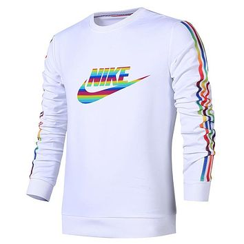 Nike Women Men Fashion Casual Scoop Neck Long Sleeve Top Sweater Pullover