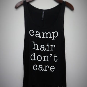 """""""camp hair don't care"""" graphic tank"""