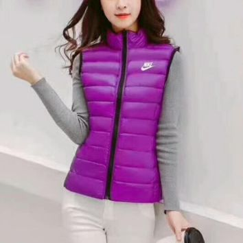 Nike Sleeveless Vest Winter Casual Coats Cotton-Padded Warm Vest Waistcoat