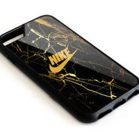 Best Nike.8I3 Logo Gold Marble Hard Protect Case For iPhone 6 6s 7 7 Plus Cover