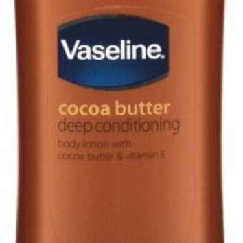 Vaseline Cocoa Butter Deep Conditioning Body Lotion with Cocoa Butter & Vitamin E, 24.5 Oz