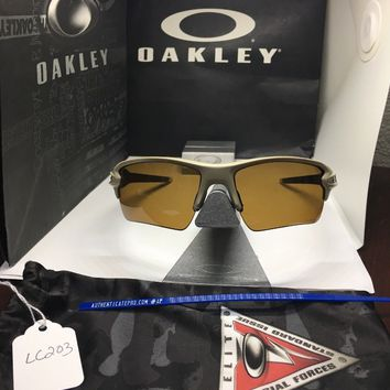Oakley Sunglasses Flak 2.0 XL SI Desert Tan W/ Bronze Polarized Lens #OO9188-38