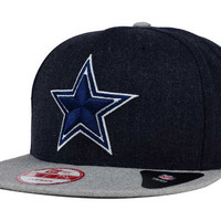 Dallas Cowboys NFL Heather Action 9FIFTY Snapback Cap