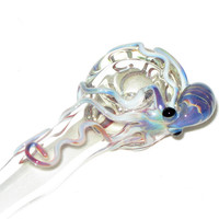 Octopus Spoon Medium Hand Blown Glass by andromedaglass on Etsy