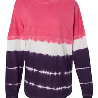 J. America Game Day 100% Cotton Jersey Tie Dye Collection-Wild Berry/Very Berry