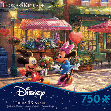 Ceaco Thomas Kinkade Disney Mickey & Minnie 750 Piece Puzzle
