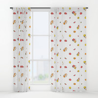 Bell Peppers and Guinea Pigs Pattern in White Background by Noristudio