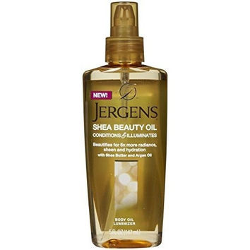 Jergens Shea Beauty Body Oil Luminizer For Unisex, 5 Ounce
