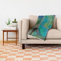 Waterfalling Throw Blanket by Nina May Designs | Society6