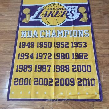 Los Angeles Lakers flag 3ftx5ft champion Banner