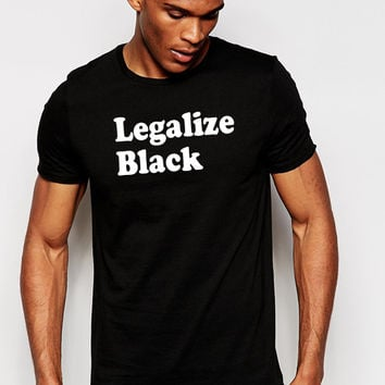 Legalize Black T-Shirt