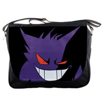 "Pokemon Gengar 14"" Messenger Bag Cartoon Games Tv Series Season Shoulder Sling School Laptop NoteBook School Bags"