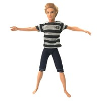NK One Set Prince Doll Casual Handmade Clothes Emulation Outfits  for barbie boy friend for barbie doll ken 022D