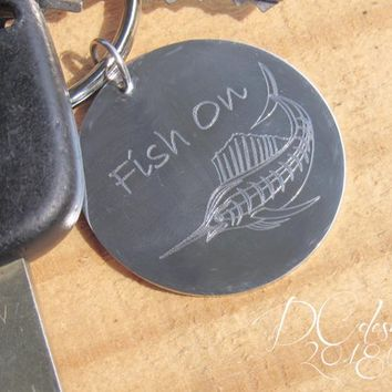 Fishing, Fly Fishing, Personalised Keyring, Custom Keychain, Gift for Dad, Personalised Gift, Gift for Mom, Husband Gift, Boyfriend Gifts