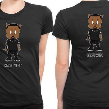 ESBP7V Kanye West Were Place On Cartoon Funny 2 Sided Womens T Shirt