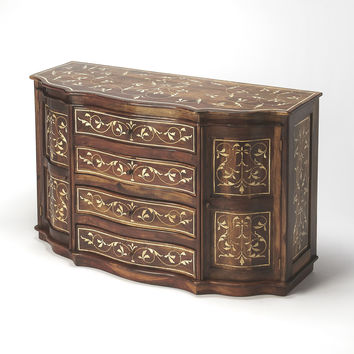 Bone Inlay Chevrier Wood & Bone Inlay Sideboard
