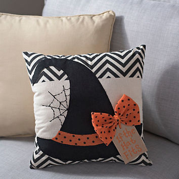 Witch's Hat Halloween Pillow