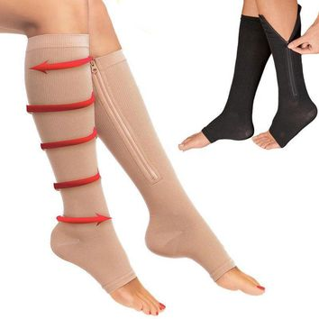 Compression Zipper Socks Leg Support