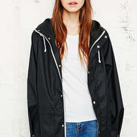 BDG Fisherman Rain Jacket in Black - Urban Outfitters