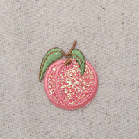 Peach - Glitter - Single - Shimmery Sparkle - Embroidered Patch - Iron on Applique - AP-511208