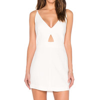 OSKLEN V Neck Tank Dress in Off White