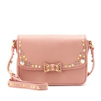 miu miu - embellished leather shoulder bag