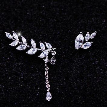 ESBONG Leaf shiny different two side lucky Silver Scales [11192813844]