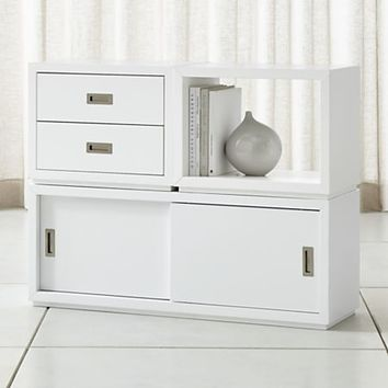 Aspect White 3-Piece Small Modular Storage Set