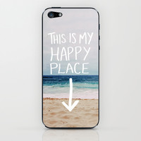 My Happy Place (Beach) iPhone & iPod Skin by Leah Flores