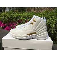 Air Jordan 12 OVO White Basketball Shoes 36-47