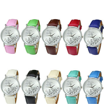 Gofuly Top Brand New Women Leather Watch Who Cares I am Late Anyway Letter Watches Fashion Quartz Watch Casual Clock relogio