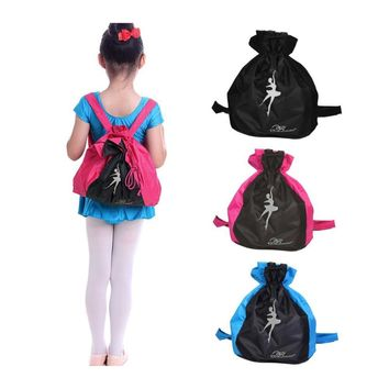 Child Ballet Dancing Backpack Waterproof  Thicken Double-shoulder Dancing Package Bucket  Casual Bag Girls Boy Travel Bag