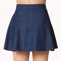 Girly Chambray Skater Skirt