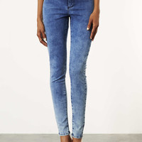 MOTO Mottled Bleach Joni Jeans - Jeans - Clothing - Topshop