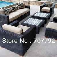 Rattan Resort 8 Piece Deep Seating Conversation Sofa Set-in Rattan / Wicker Furniture Sets from Furniture on Aliexpress.com | Alibaba Group