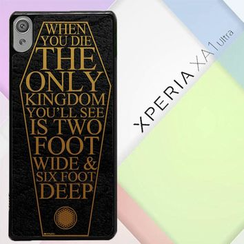 Bring Me The Horizon Coffin The House Of Wolves Quote F0353 Sony Xperia XA1 Ultra Case