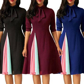 Lady Women's Chiffon Slim Dress Formal Evening Party Cocktail Bridesmaids Dress