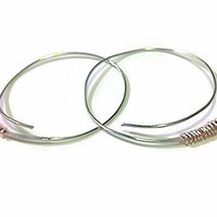 CLEARANCE SALE Silver Hoop Earrings Rose Gold Wire Wrapped Small Hoops Eco Friendly Spring Fashion Jewelry Open Hoop Earrings Hammered Hoops