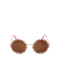 BLING TIME ROUND SUNGLASSES: Betsey Johnson