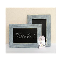 Shabby Blue Set of 2 Framed Chalkboards with Box by byAnnoDomini