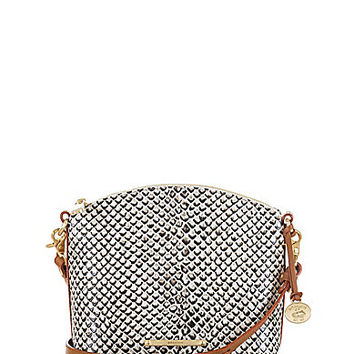 Brahmin Black Java Collection Mini Duxbury Snake-Embossed Cross-Body Bag | Dillards.com