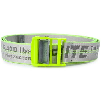 Industrial Neon Yellow Logo Belt by OFF-WHITE