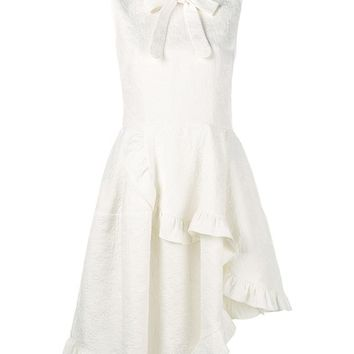 Sleeveless Asymmetric Ruffle Dress - SIMONE ROCHA