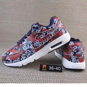 Nike Print Flower Women Men Casual Running Sport Shoes Sneakers Army Green Red Navy G A36h My