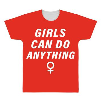 Girls Can Do Anything All Over Men's T-shirt