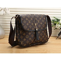 LV Hot Selling Ladies Colour Matching? Full Printed Single Shoulder Bag LV pattern coffee