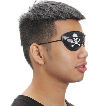 Pirate Eye Patch Skull Crossbone Halloween Party Favor Bag Costume Kids Toy (Color: Black)